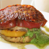 Thumbnail image for Grilled Eggplant Heirloom Tomato Stack