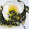 Thumbnail image for Braised Greens with Fried Eggs
