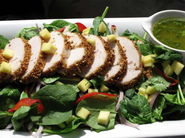 Sesame Crusted Turkey1 Sesame Crusted Turkey & Spinach Salad